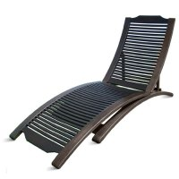Folding Hardwood Chaise Lounge-dark - Walmart.com
