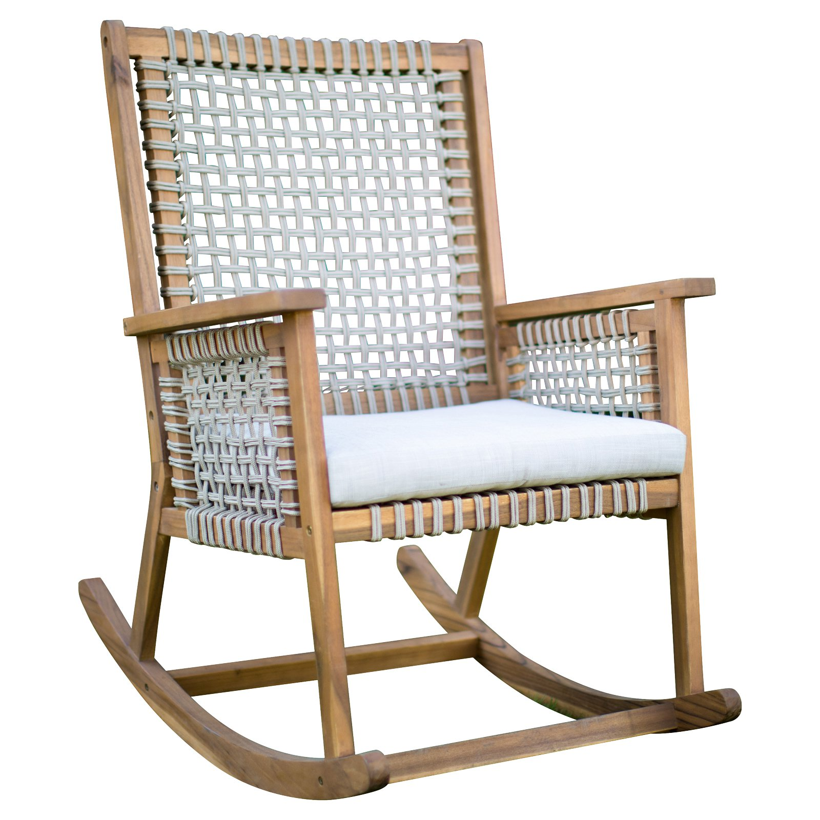 Cheap Rocking Chairs Belham Living Raeburn Rope And Wood Outdoor Rocking Chair