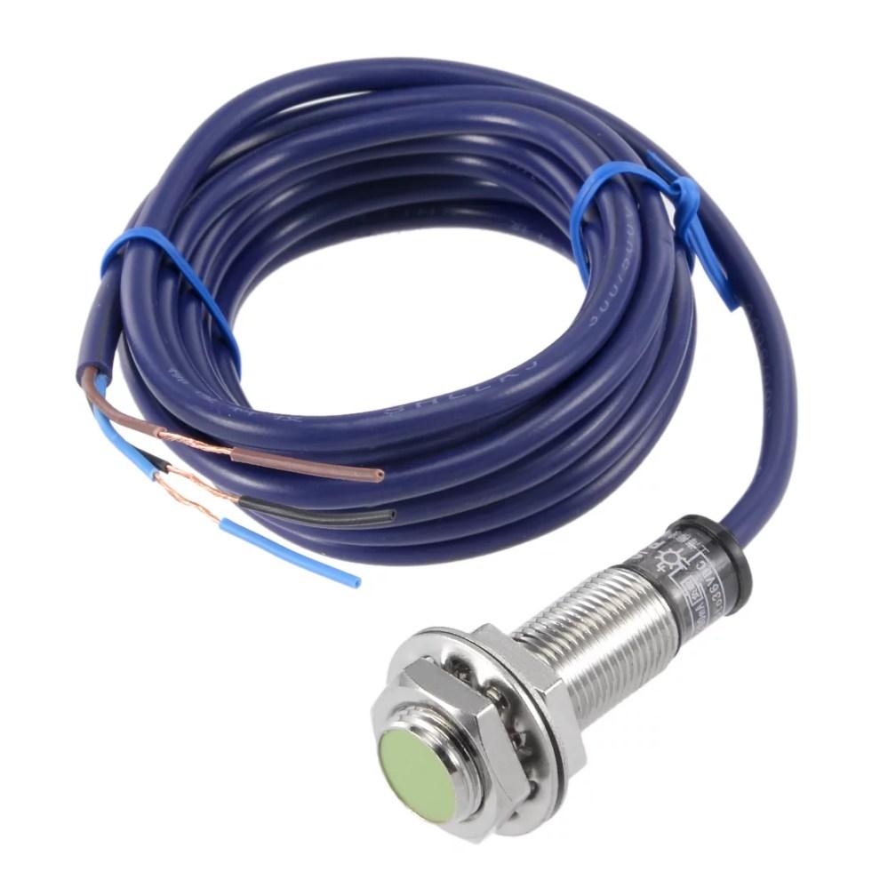 medium resolution of 2mm inductive proximity sensor switch npn no dc 6 36v 200ma 3 wire pr12 2dn walmart com