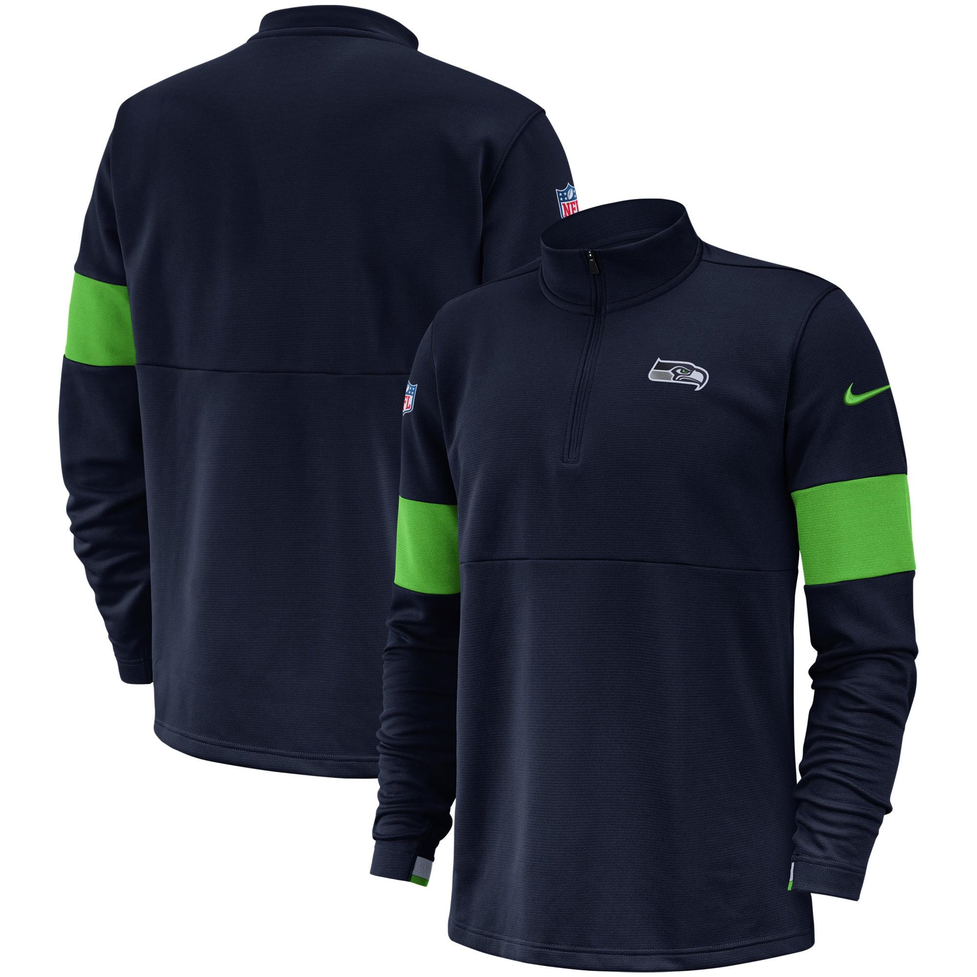 Seattle Seahawks Nike Sideline Performance Half-Zip Pullover Jacket - College Navy - Walmart.com - Walmart.com