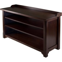Dayton Entryway Bench with Shoe Storage, Walnut - Walmart.com