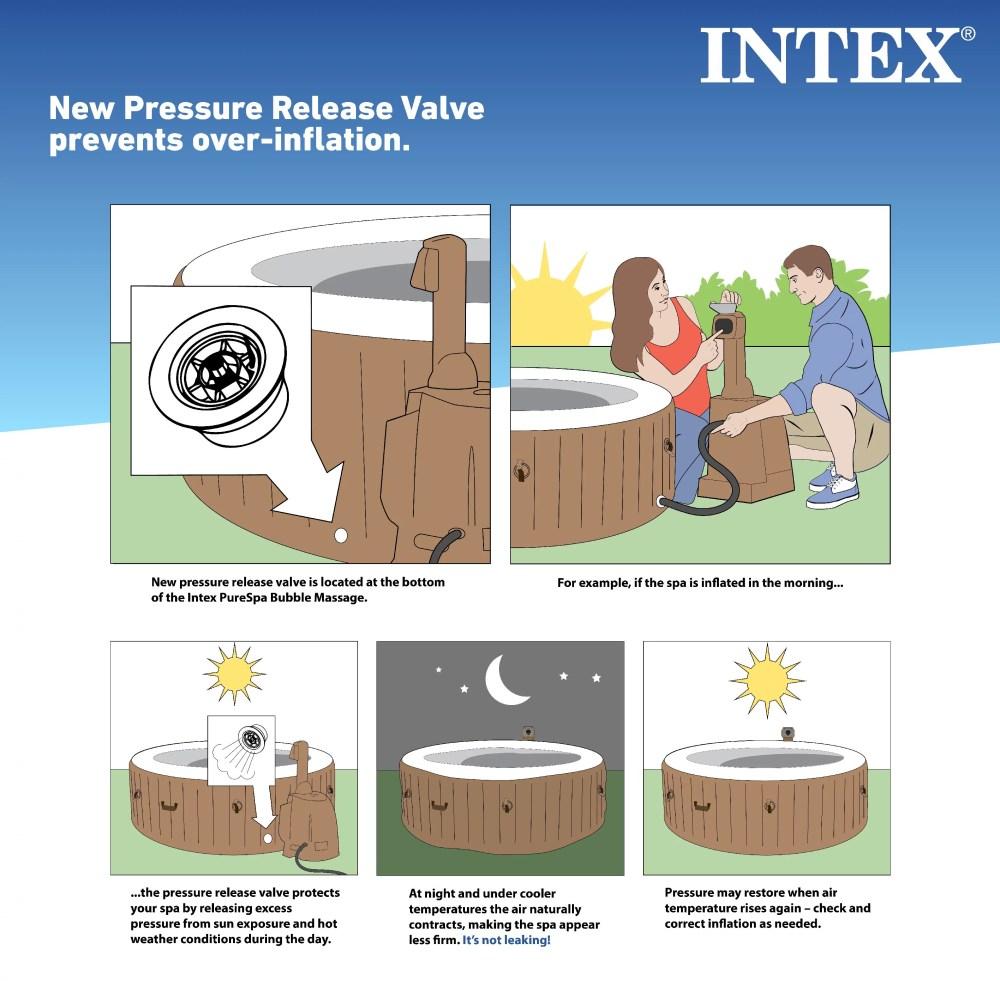 medium resolution of intex 120 bubble jets 4 person octagonal portable inflatable hot tub spa walmart com