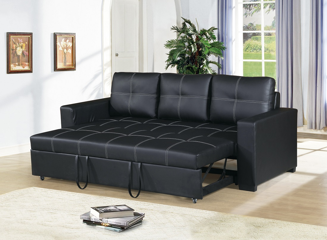 modern convertible sofa with pull out bed shaker sofabord borge mogensen black faux leather square shape stitching w comfort couch
