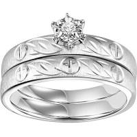Keepsake 1/20ctw Sterling Silver Cross Bridal Set ...