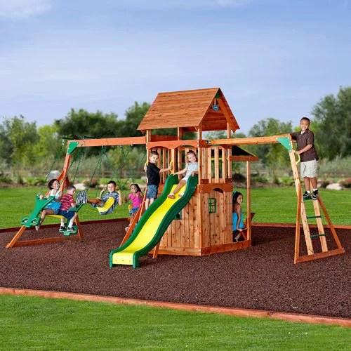 Backyard Discovery Saratoga Swing Set Walmart