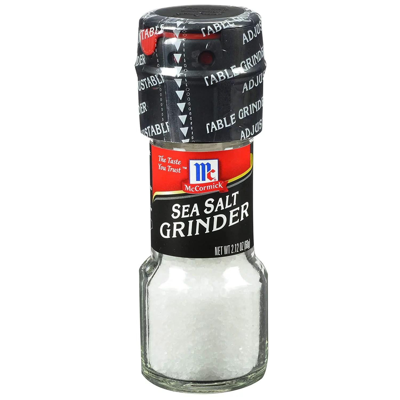 McCormick Culinary Sea Salt Grinder Grinder (Pack of 36). 2.12 oz - Walmart.com - Walmart.com