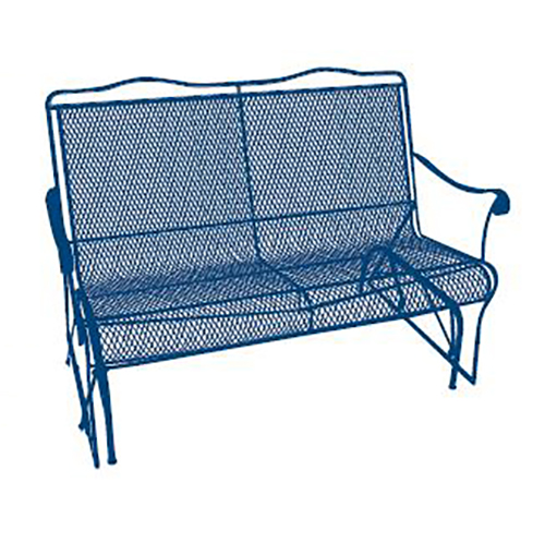 arlington house wrought iron outdoor loveseat glider charcoal