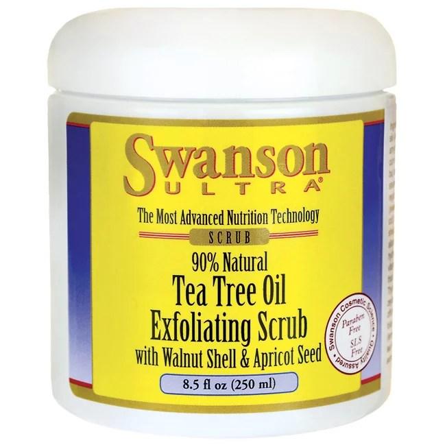 Swanson Tea Tree Oil Exfoliating Scrub 8.5 fl oz (250 ml ...