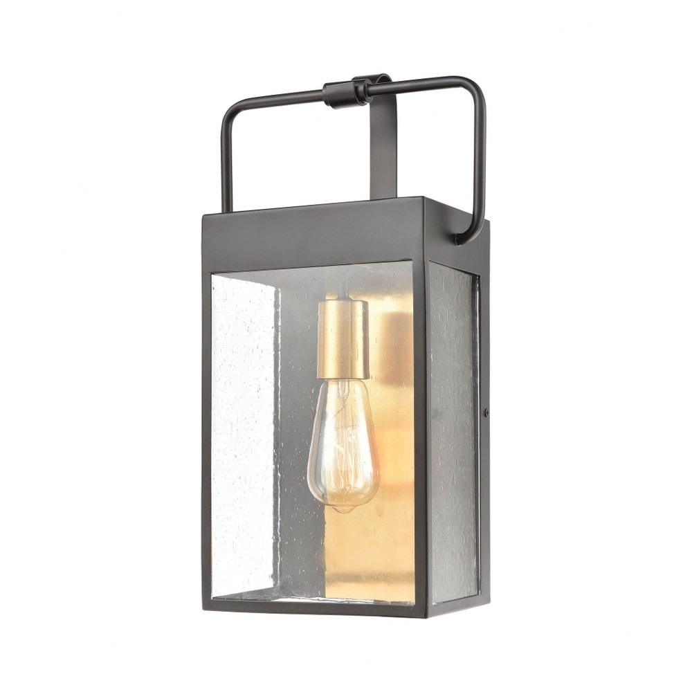 exposed bulb 17 inch one light rectangular outdoor wall lantern contemporary outdoor wall light