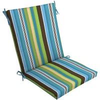 Mainstays Outdoor Chair Cushion, Blue Stripe - Walmart.com