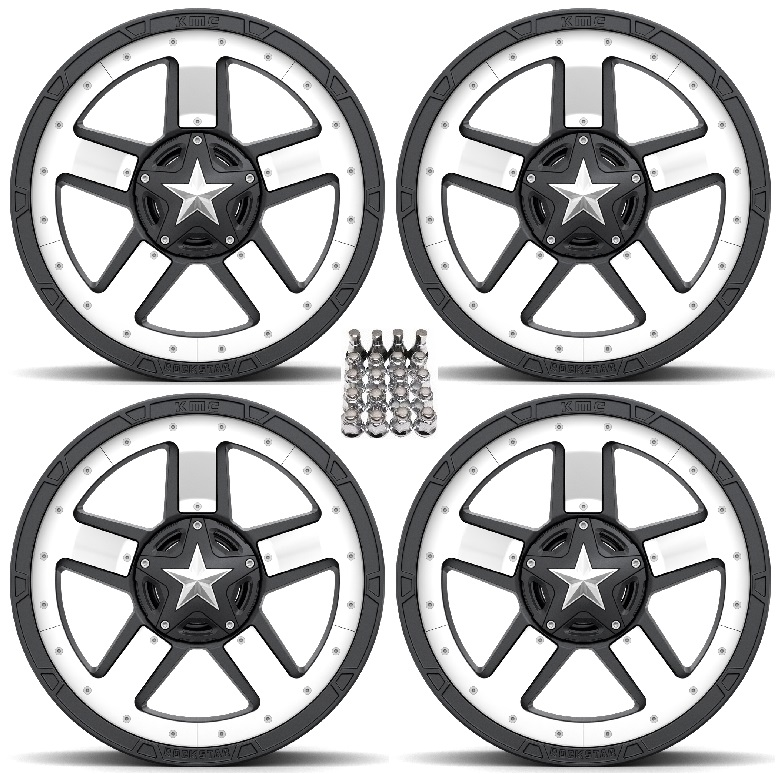 XS827 RS3 Midspoke Wheels/Rims White/Black 20