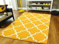 Large Yellow Rugs for Living Room 8x10 Morrocan Trellis