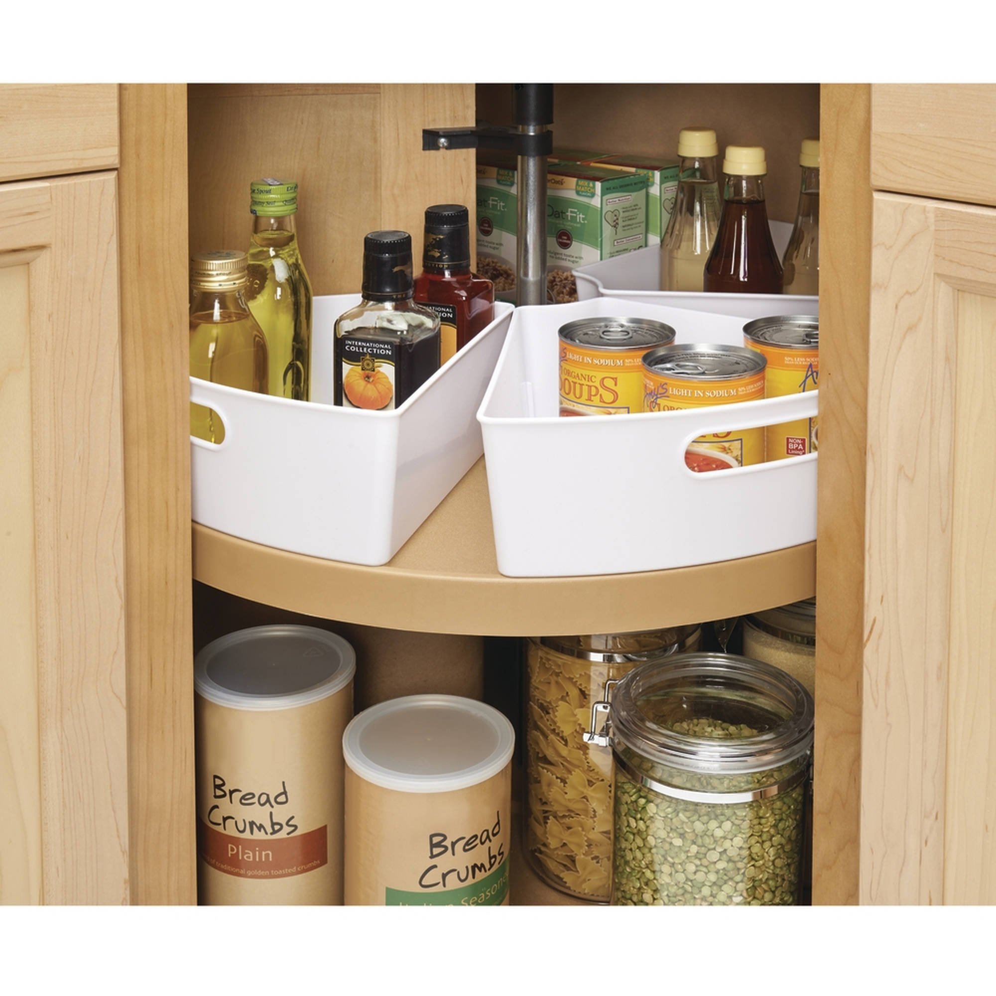 InterDesign Lazy Susan kitchen Cabinet Organizer Storage