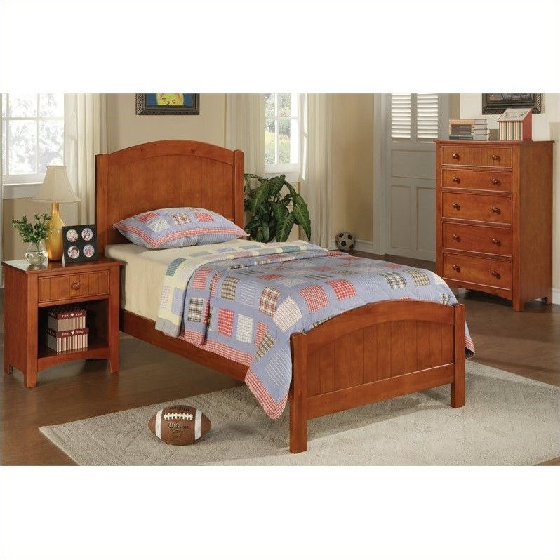 poundex bedroom furniture Poundex 3 Piece Kids Twin Size Bedroom Set in White Finish - Walmart.com
