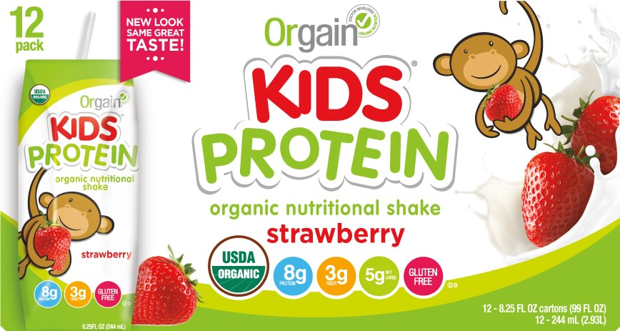 Orgain Kids Organic Nutritional Shake Strawberry 8g ...