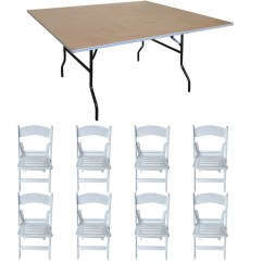 Walmart Resin Chairs Swing Chair Stand Online Pogo 48 Square Wood Banquet Folding Table And 8x Slatted
