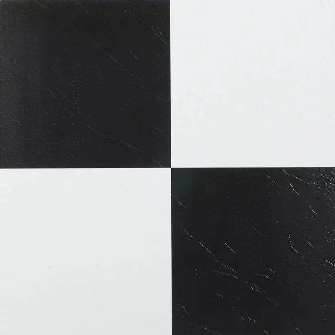 achim nexus 12 x12 1 2mm peel stick vinyl floor tiles 20 tiles 20 sq ft black white walmart com