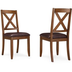 Kitchen Chairs Island Ideas Better Homes Gardens Maddox Crossing Dining Chair Set Of 2 Brown Walmart Com