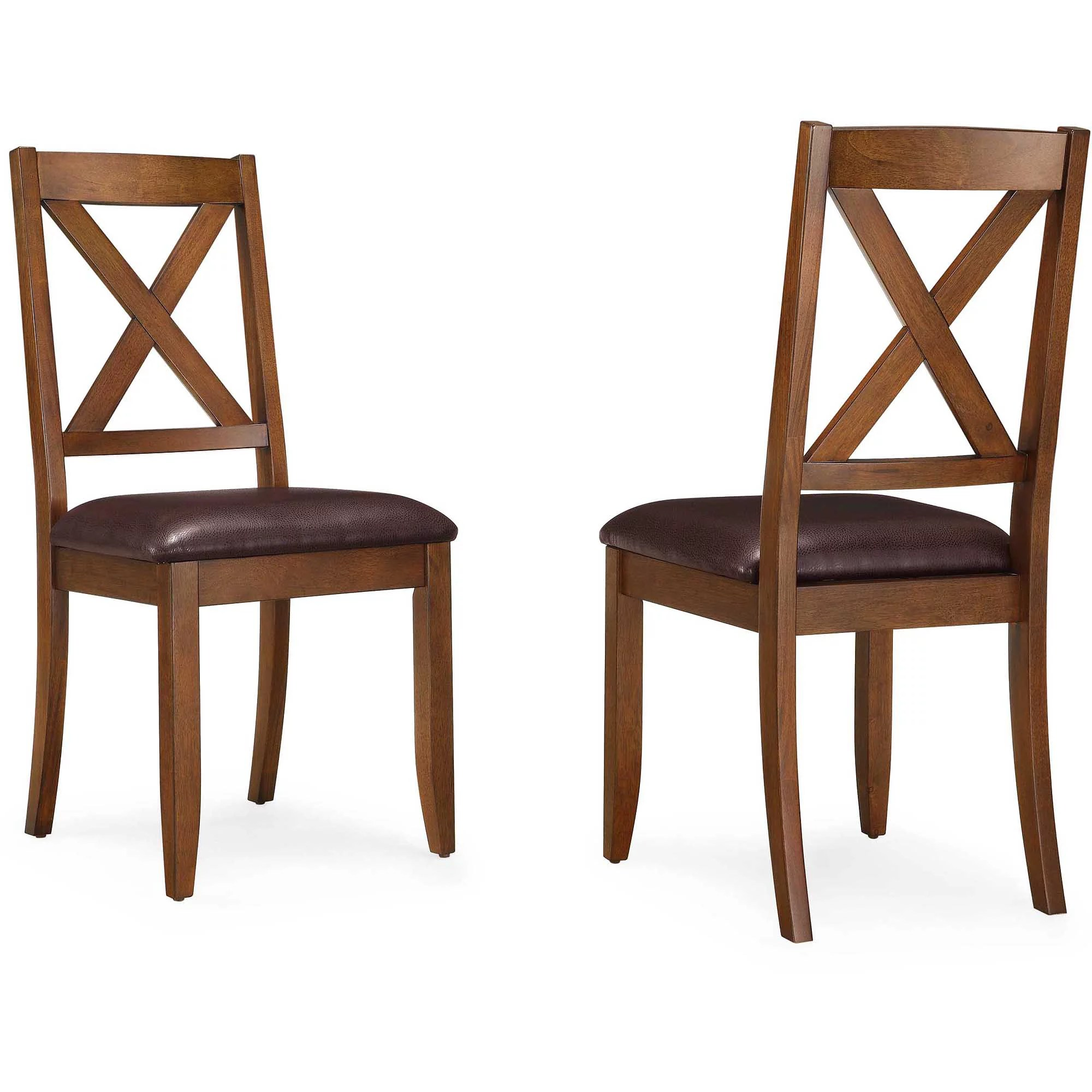 Kitchen Chairs Wood Better Homes Gardens Maddox Crossing Dining Chair Set Of 2 Brown