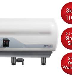 atmor 3kw 110v single sink 0 5 gpm electric tankless water heater with pressure relief device and 0 5 gpm aerator walmart com [ 4800 x 3750 Pixel ]