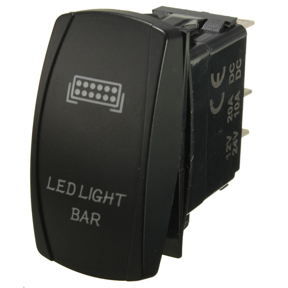 medium resolution of matcc 12v 300w led rocker switch light bar wiring harness on off laser 40a relay 30a fuse 5 pin universal car vehicle suv van turck boat us walmart com