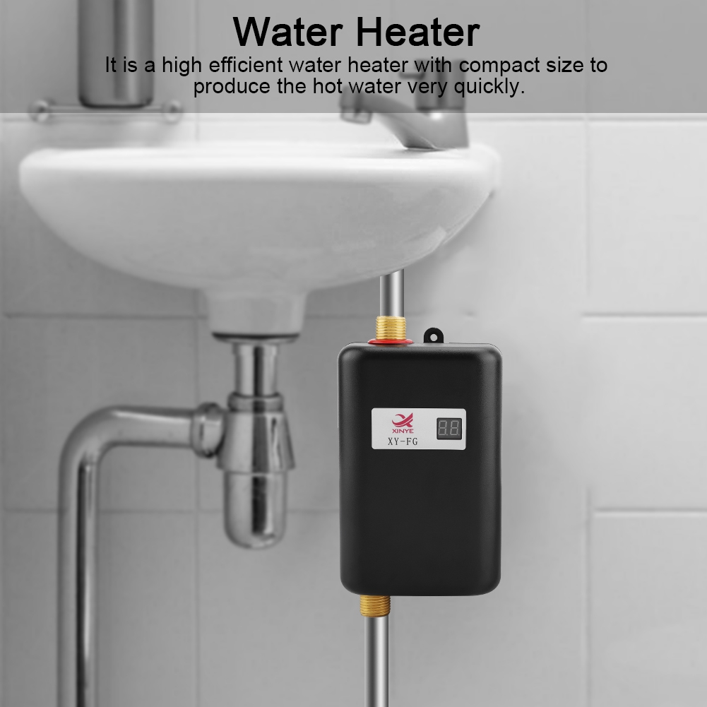 water heater hurrise 110v 3000w mini electric tankless instant hot water heater bathroom kitchen washing us