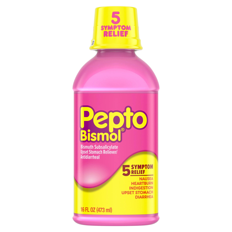 Pepto Bismol 5 Symptom Stomach Relief Liquid Original ...