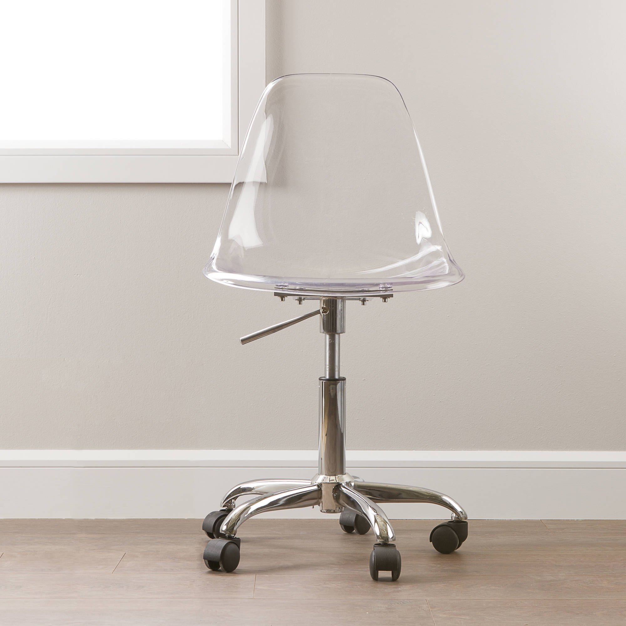 desk chairs on wheels used restaurant tables and for sale south shore annexe clear office chair with multiple colors walmart com