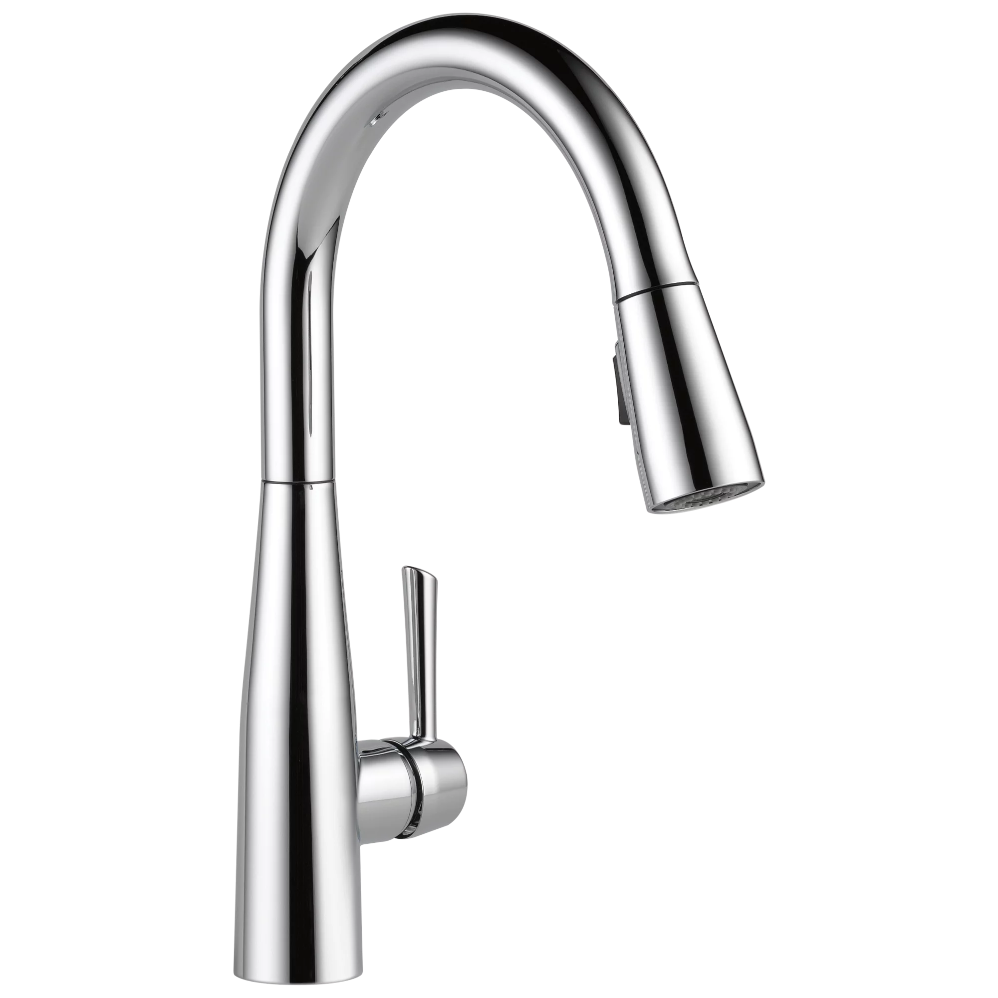 delta essa single handle pull down kitchen faucet in chrome 9113 dst