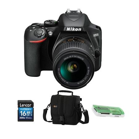 Nikon D3500 24MP DSLR Camera Black AF-P DX NIKKOR 18-55mm VR Lens W/ Free Acc Kit