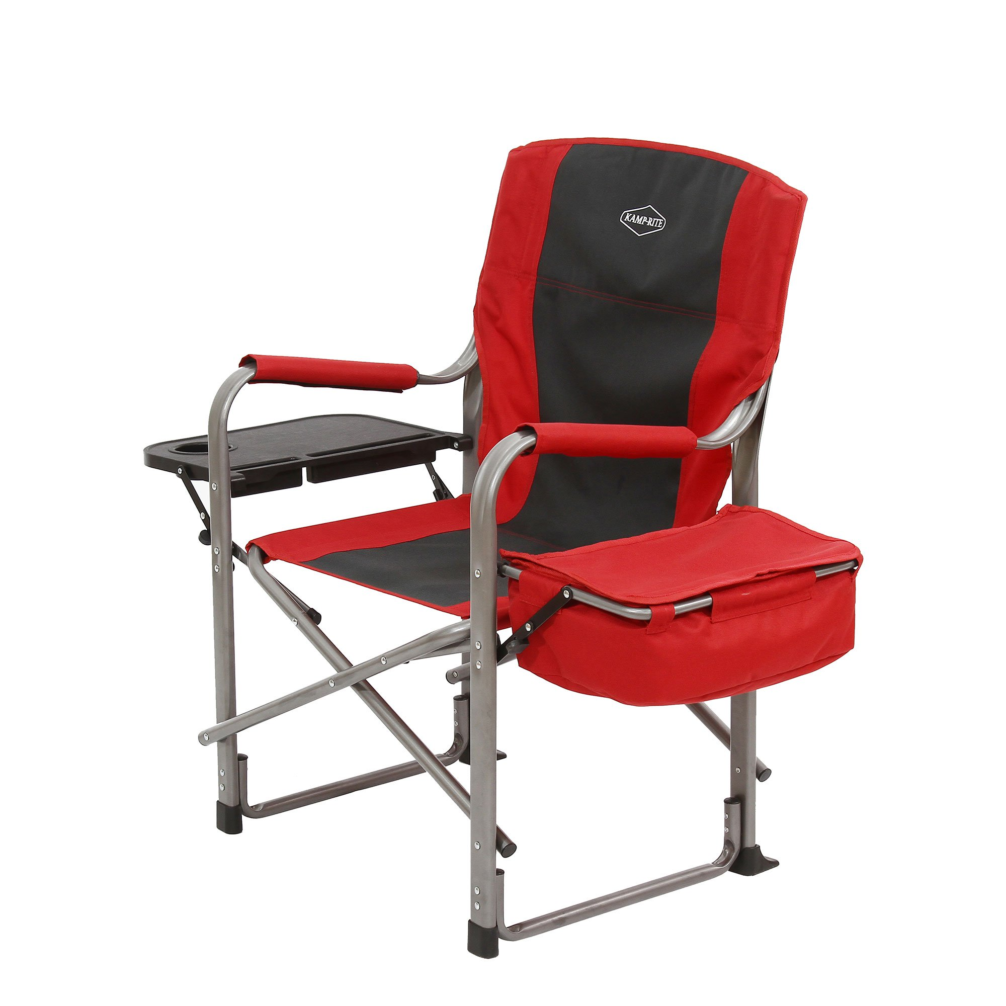 Folding Directors Chair With Side Table Kamp Rite Outdoor Camp Folding Director S Chair With Side Table Cooler Red