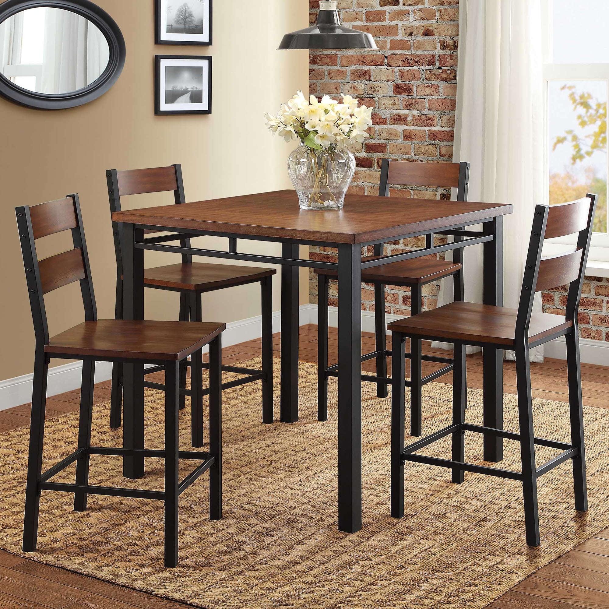 antique oak dining chairs mid century modern toronto better homes gardens mercer 5 piece counter height set vintage walmart com