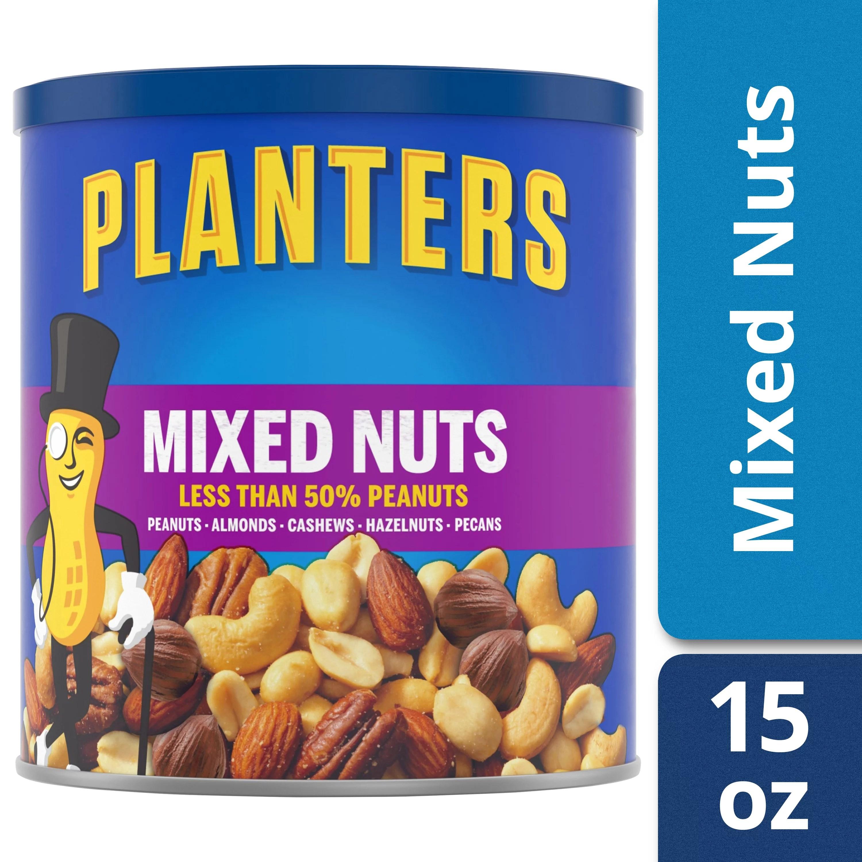 Planters Mixed Nuts 15 oz Can Walmartcom