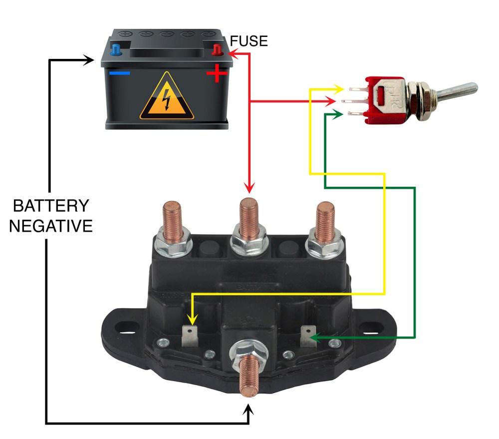 medium resolution of new relay winch motor reversing solenoid switch fits 12 volt 24450bx 214 1211a51 walmart com