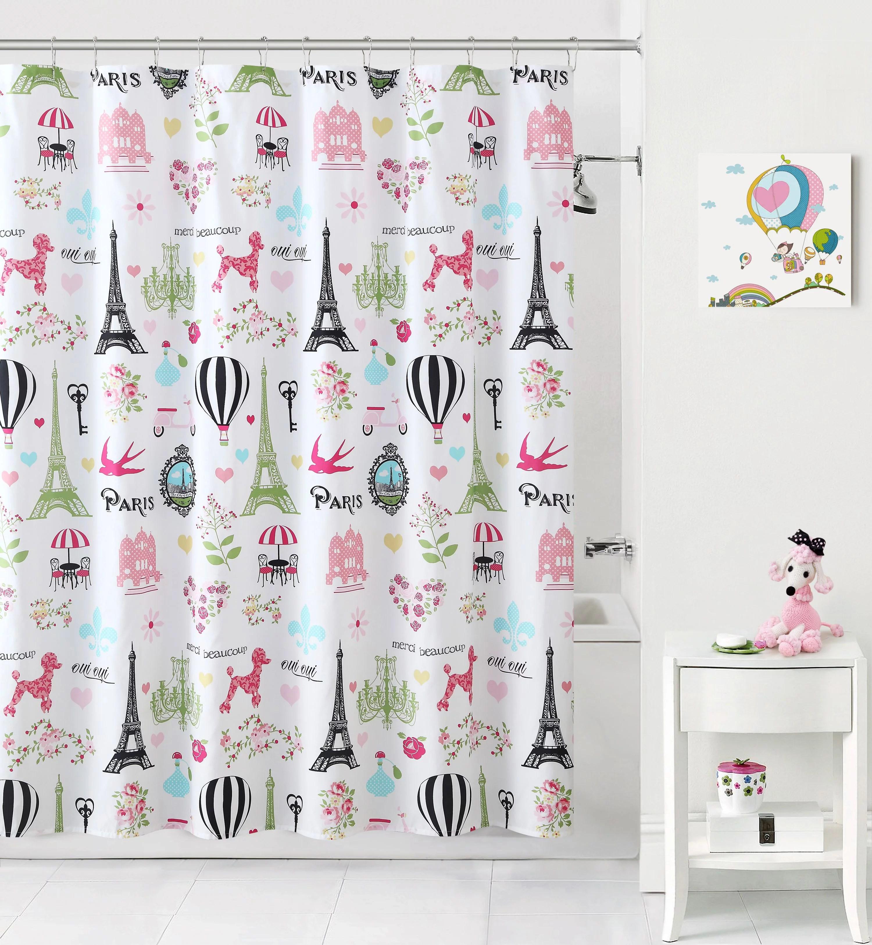 mainstays kids paris shower curtain 1 each walmart com