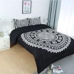 Unique Bargains Bohemian Boho Mandala Comforter Bedding Set Black Queen Walmart Com Walmart Com