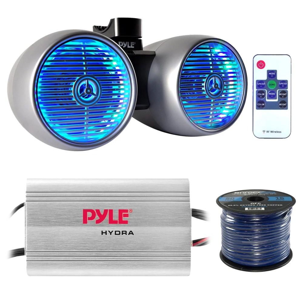 medium resolution of marine speaker and amp combo pyle plmrmp3a 4 channel 1200 watt waterproof mp3 power amplifier