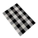Hotwon Kitchen Bathroom Cotton Plaid Rugs Black And White Checkered Rug Door Mat Rug Walmart Com Walmart Com