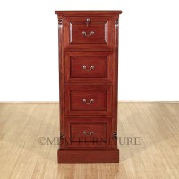 Cherry 4 Drawer File Vertical Filing Cabinet
