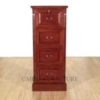 Cherry 4 Drawer File Vertical Filing Cabinet - Walmart.com