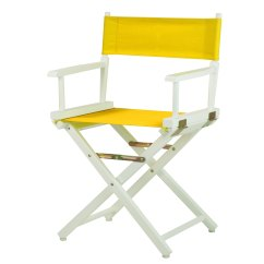Directors Chair White Parson Faux Leather Dining Chairs 18 Quot Director 39s Frame Gold Canvas Walmart