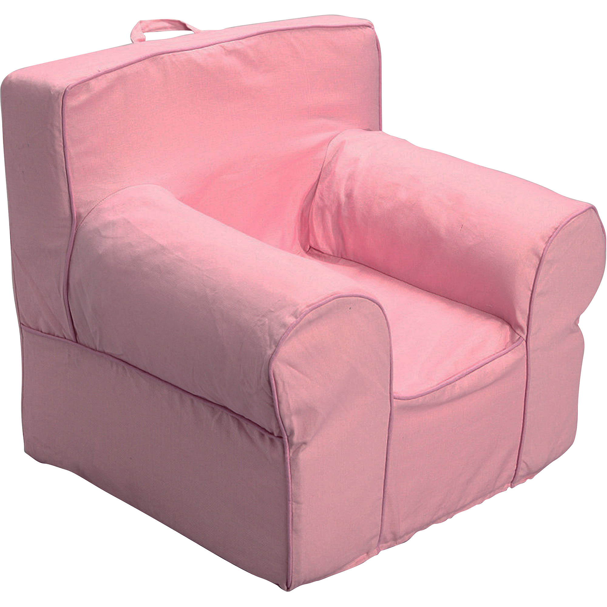 pink slipcover chair two person folding camp medium foam slip cover plus i walmart com departments