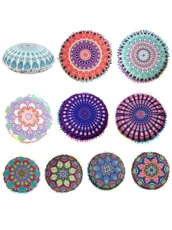 large mandala floor pillows round bohemian meditation cushion cover pouf