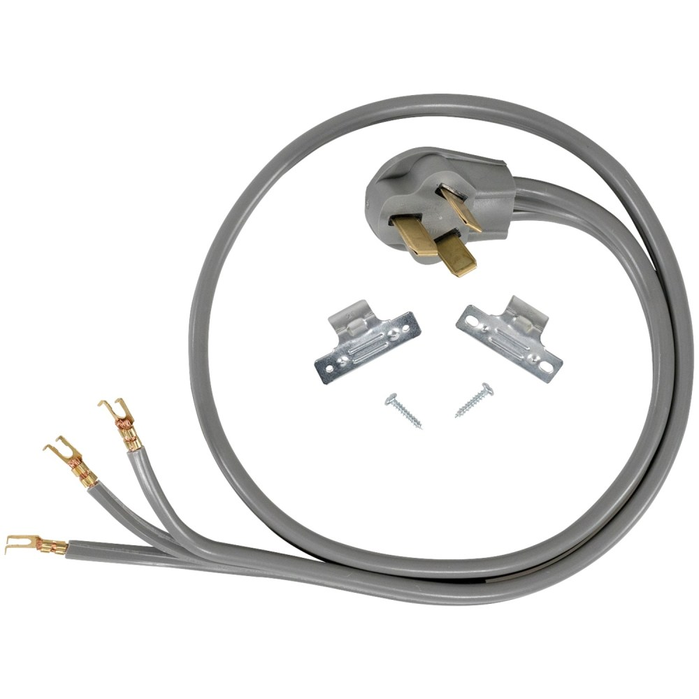 medium resolution of certified appliance accessories 90 1052 3 wire open eyelet 40 amp range cord 5ft