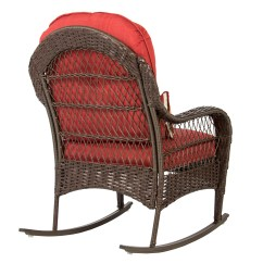 Cushions For Wicker Chairs Air Filled Chair Best Choice Products Rocking Patio Porch Deck All Weather Proof W Walmart Com