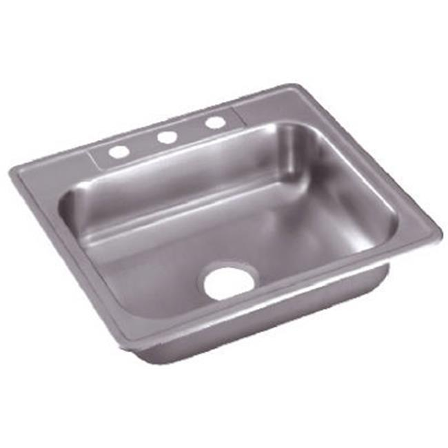 elkay kitchen sinks high table with storage ne25224 25 x 22 6 in basic series stainless steel single compartment sink