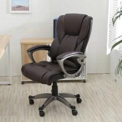 Desk Chair Brown Leather Wedding Covers Cheap Belleze High Back Executive Faux Office Computer Adjustable Height Tilt Walmart Com