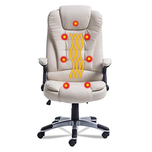 desk chair high fishing kit heated office massage upgraded 7 point heating gaming back