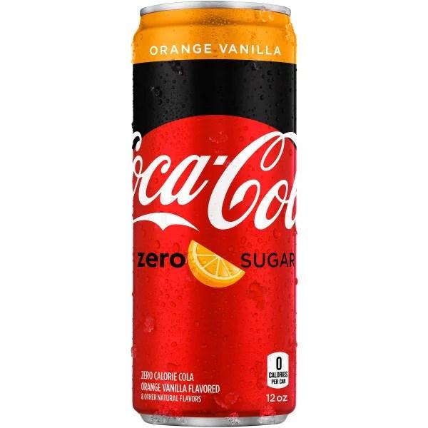 Coca-Cola Orange Vanilla Zero Sugar Diet Soda Soft Drink ...