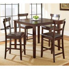Steve Silver Dining Chairs Farmhouse For Sale Howard 5 Piece Counter Height Set Merlot Cherry Walmart Com